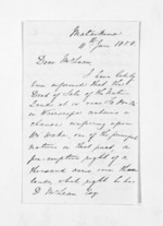 2 pages written 11 Jun 1858 by John Valentine Smith to Sir Donald McLean, from Inward letters - Surnames, Smith