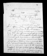 3 pages written 8 Nov 1872 by Colonel William Moule in Wellington City to John Henry Herbert St John in Napier City, from Native Minister - Inward telegrams