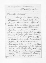 5 pages written 16 Nov 1875 by Edward McGlashan in Dunedin City to Sir Donald McLean in Wellington, from Inward letters - Surnames, Macfar - McHar