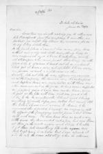 2 pages written 25 Jun 1873 by Sergeant-Major H P Bluett, from Inward letters - Surnames, Bla - Bol