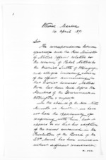 3 pages written 14 Apr 1871 by Sir William Fox to Robert Reid Parris, from Papers relating to general government - Memoranda from Premier and Cabinet