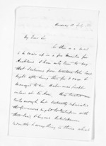 2 pages written 12 Jul 1861 by John Rogan, from Inward letters - John Rogan