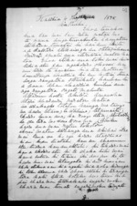 2 pages written 4 Oct 1875 by Hone Te One in Kawhia, from Documents in Maori