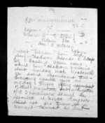 2 pages written 6 Dec 1872 by George Sisson Cooper to Sir Donald McLean in Napier City, from Native Minister - Inward telegrams