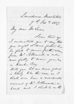 3 pages written 7 Feb 1867 by John Valentine Smith in Masterton to Sir Donald McLean, from Inward letters - Surnames, Smith