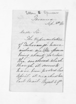 3 pages written 4 Sep 1860 by Ellen Stanley Spencer, from Inward letters - Surnames, Spe - Sta
