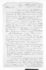 2 pages written 19 Feb 1862 by Charles Bonython Borlase in Wellington to Sir Donald McLean, from Inward letters - Surnames, Boo - Bor