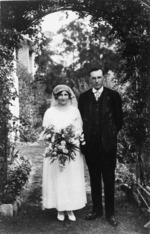 Helen and William Noel Benson on their wedding day
