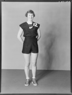 Yvette Williams, athlete with New Zealand Olympic team, Rome 1960