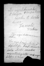 1 page written by Tamati Waka, from Correspondence and other papers in Maori