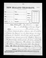 1 page written 20 Dec 1872 by Sir Donald McLean in Wellington to Christchurch City, from Native Minister - Inward telegrams