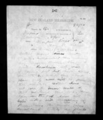 2 pages written 3 Dec 1872 by Thomas William Lewis in Wellington to Sir Donald McLean in Napier City, from Native Minister - Inward telegrams