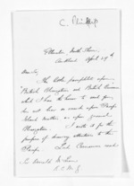 3 pages written 27 Apr 1876 by Coleman Phillips in Auckland City to Sir Donald McLean, from Inward letters - Surnames, Pet - Pic