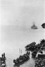 Auckland Battalion landing at Gallipoli, Turkey, during World War I