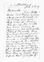 4 pages written 2 Jul 1859 by Rev Meyrick Lally in Christchurch City to Sir Donald McLean, from Inward letters - Surnames, Lai - Lal