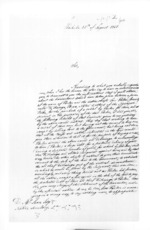 2 pages written 25 Aug 1858 by Charles De Witte in Auckland Region to Sir Donald McLean, from Secretary, Native Department - Administration of native affairs