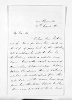 2 pages written 27 Aug 1861 by John Rogan in New Plymouth District, from Inward letters - John Rogan