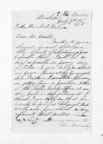 3 pages written 7 Jul 1875 by Ellen Stanley Spencer to Sir Donald McLean, from Inward letters - Surnames, Spe - Sta