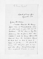 2 pages written 20 Aug 1872 by Stephenson Percy Smith to Sir Donald McLean in Wellington, from Inward letters - Surnames, Smith