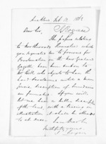 1 page written 12 Feb 1863 by John Rogan in Auckland Region, from Inward letters - John Rogan