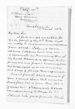 3 pages written 17 Mar 1873 by Sir Donald McLean in Auckland Region to John Lang Currie, from Inward letters - John L Currie