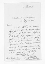 2 pages written 11 Aug 1876 by Coleman Phillips in Wellington City to Sir Donald McLean, from Inward letters - Surnames, Pet - Pic