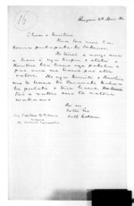 1 page written 20 Apr 1860 by Sir Donald McLean, from Native affairs - Waitara