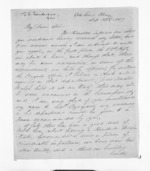 4 pages written 22 Sep 1857 by John Simpson Sanderson to Sir Donald McLean, from Inward letters - Surnames, Sal - Say