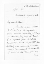 3 pages written 19 Aug 1864 by Charles Robb Blakeston in Christchurch City to Sir Donald McLean, from Inward letters - Surnames, Bla - Bol