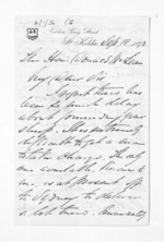 3 pages written 18 Sep 1873 by John Lang Currie to Sir Donald McLean, from Inward letters - John L Currie