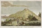 Webber, John, ca 1750-1793 :The inside of a hippah in New Zealand. Rennoldson sculp. [London] Alexr. Hogg [1784?]