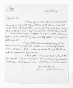 1 page written by John Lang Currie, from Inward letters - John L Currie