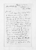 3 pages written 28 Jun 1860 by Rev James West Stack in Lyttelton to Sir Donald McLean, from Inward letters - Surnames, Spe - Sta