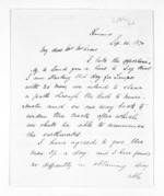 3 pages written 16 Sep 1870 by James Booth to Sir Donald McLean, from Inward letters - Surnames, Boo - Bor