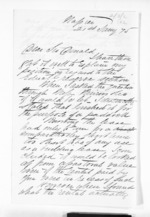 2 pages written 21 Jan 1875 by William Robert Blythe in Napier City to Sir Donald McLean, from Inward letters - Surnames, Bla - Bol