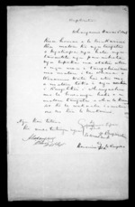 2 pages written 2 Jul 1849 by Aperahama Tipae and Alexander Campbell in Wanganui to Sir Donald McLean, from Correspondence and other papers in Maori