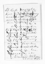 1 page written 26 Dec 1872 by Sir Donald McLean to Colonel William Moule, from Inward letters - Surnames, Bla - Bol