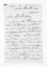 3 pages written 30 Mar 1874 by John Lang Currie to Sir Donald McLean, from Inward letters - John L Currie