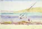 "Haylock, Arthur Lagden  1860-1948 :""Wanderer"" blown ashore Evans Bay.  24/3/1918"