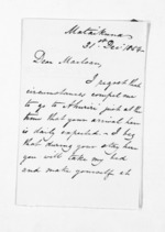 3 pages written 31 Dec 1854 by John Valentine Smith to Sir Donald McLean, from Inward letters - Surnames, Smith