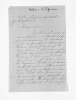 3 pages written 20 Apr 1866 by Ellen Stanley Spencer to Sir Donald McLean, from Inward letters - Surnames, Spe - Sta
