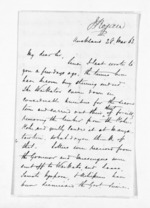 3 pages written 28 Mar 1863 by John Rogan in Auckland Region, from Inward letters - John Rogan