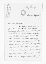 2 pages written by Henry Phipps to Sir Donald McLean, from Inward letters - Surnames, Pet - Pic