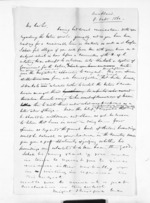 2 pages written 8 Oct 1860 by an unknown author in Auckland Region to Captain John Campbell Johnstone in Whangaroa, from Inward letters - John Rogan