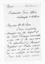 3 pages written 5 Oct 1870 by Robert Pharazyn in Wellington City to Sir Donald McLean, from Inward letters - Surnames, Pet - Pic