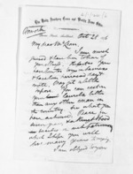 3 pages written 28 Oct 1876 by David Mitchell Luckie to Sir Donald McLean, from Inward letters - D M Luckie