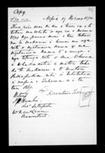 1 page written 17 Nov 1874 by an unknown author in Napier City, from Correspondence and other papers in Maori