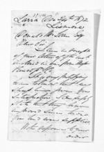 7 pages written 24 Dec 1872 by John Lang Currie to Sir Donald McLean, from Inward letters - John L Currie