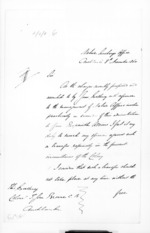 7 pages written 8 Nov 1860 by Sir Donald McLean to Sir Thomas Robert Gore Browne in Auckland Region, from Secretary, Native Department -  Administration of native affairs