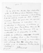 1 page written 23 Sep 1873 by John Davies Ormond, from Hawke's Bay.  McLean and J D Ormond, Superintendents - Finance papers